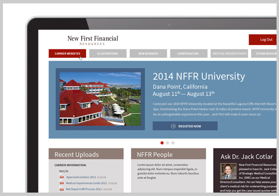 New First Financial Resources Member Portal