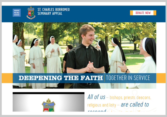 St. Charles Seminary Appeal Website