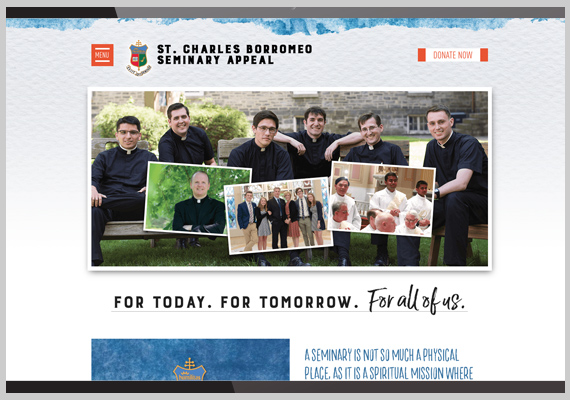 St. Charles Seminary Appeal Website 2017